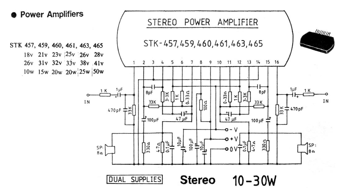 electronic circuit schematics10 30 watt stereo audio amplifier circuit