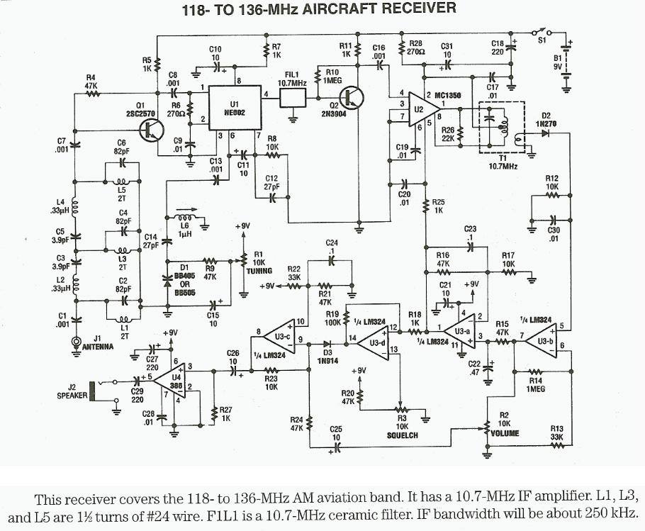 radio frequency rf circuit diagrams also see rf amplifier and 118mhz to 136mhz aircraft receiver circuit diagram