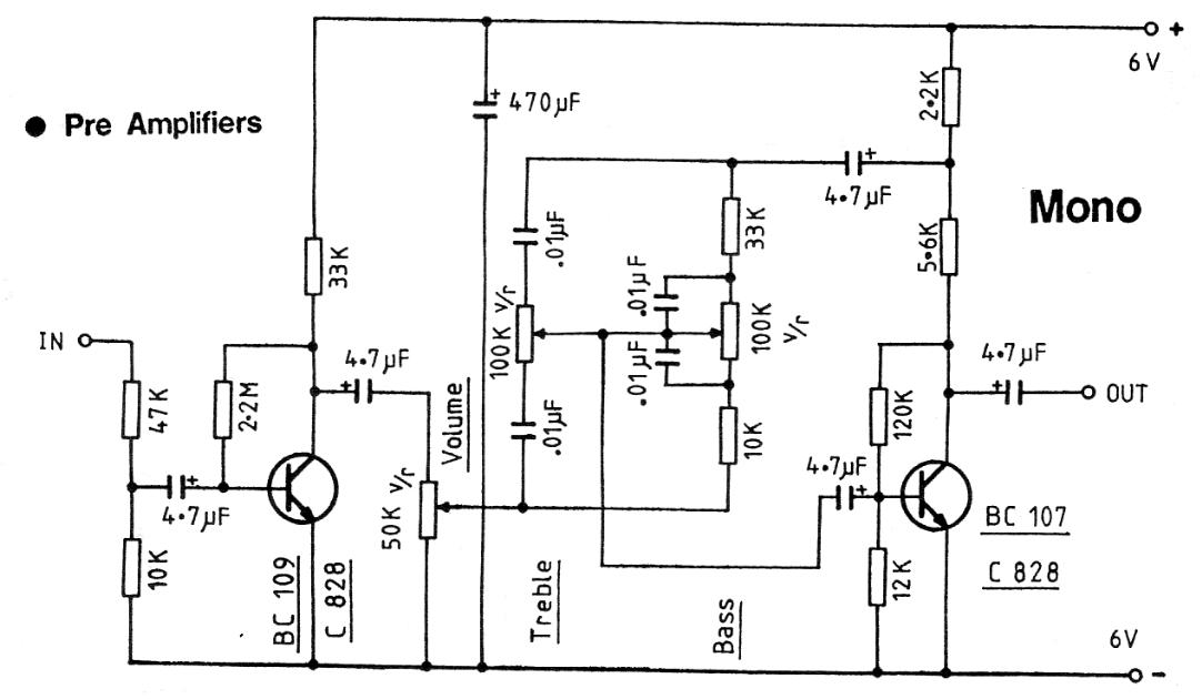 2 TRANSISTOR PRE AMPLIFIER audio preamp circuit diagrams circuit schematics preamp wiring diagram at bayanpartner.co