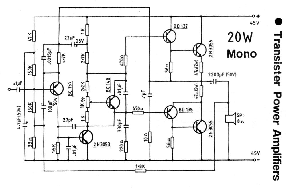 transistor power lifier circuit